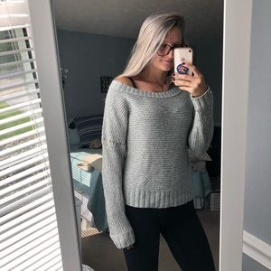 aerie Sweaters - Wide neck gray sweater